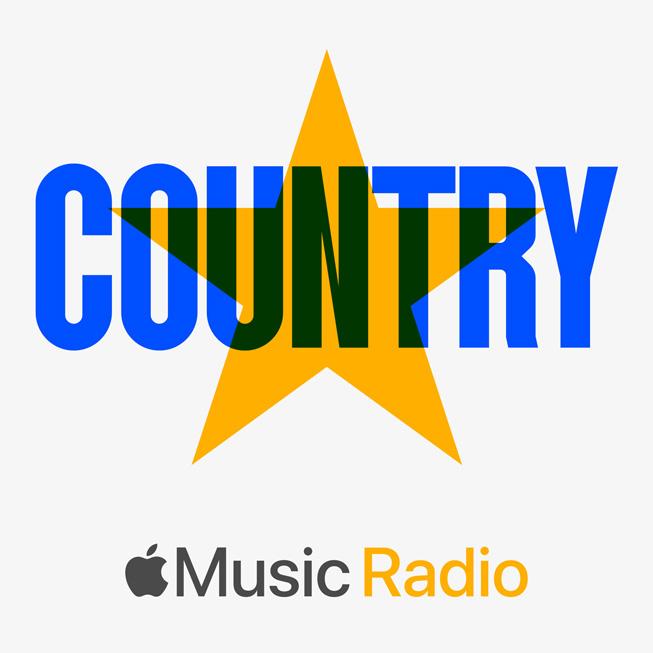 Illustrazione stazione radio per Apple Music Country.