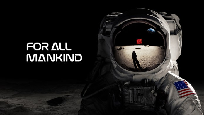 """Tela de título de """"For All Mankind"""" no Apple TV+."""