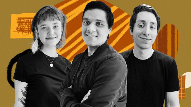 Hubli creators Mariana Lech, Ailton Vieira, and Rodolfo Diniz.