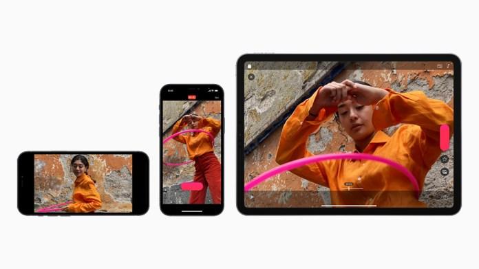 Tre video realizzati con Clips nel formato verticale e orizzontale su iPhone 12 e iPad Air.