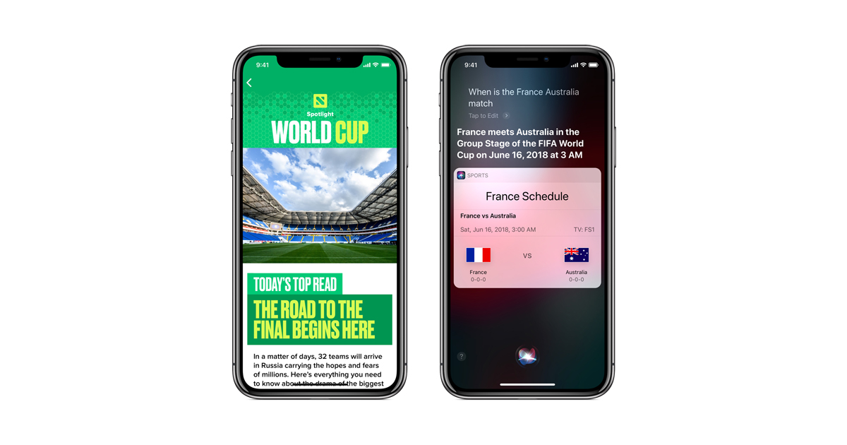 Football fans can get the latest on World Cup across Apple devices     Football fans can get the latest on World Cup across Apple devices and  services   Apple