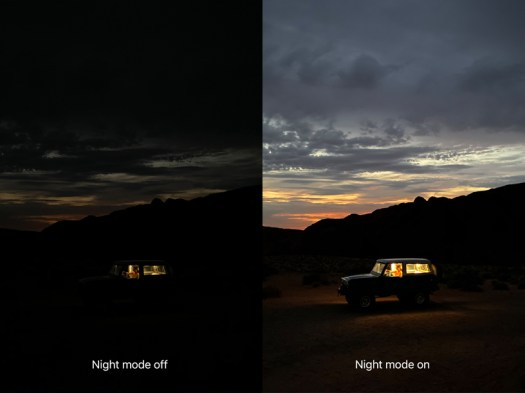Shot on iPhone Night mode comparison.