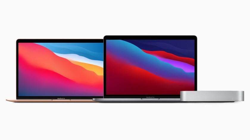 The M1-powered MacBook Air, 13-inch MacBook Pro, and Mac mini.