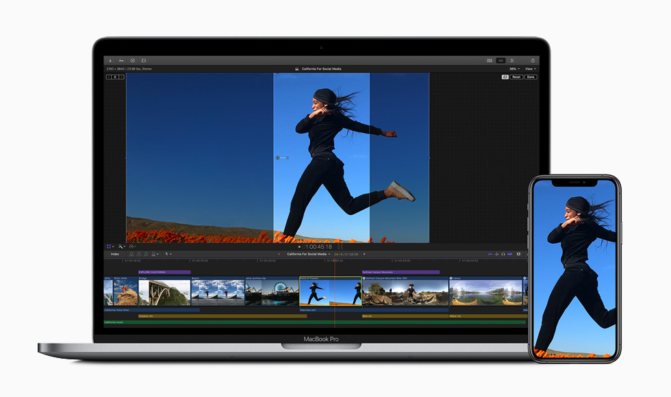 The social media cropping tool in Final Cut Pro.