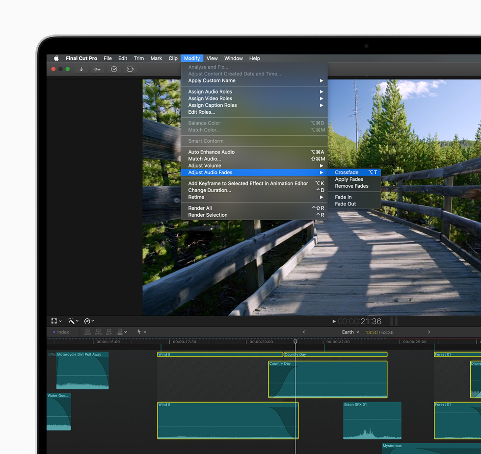 New editorial workflow in Final Cut Pro.