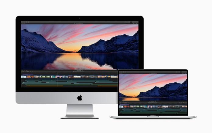 """Un flusso di lavoro proxy su iMac e su MacBook Pro 16""""."""