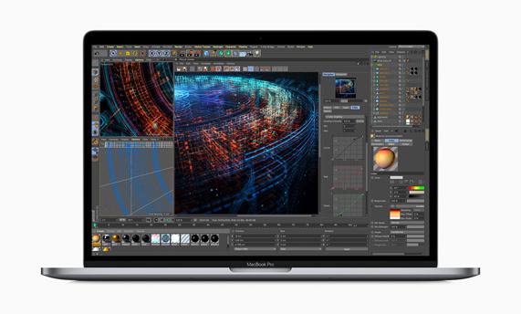 MacBook Pro showing 3D rendering.