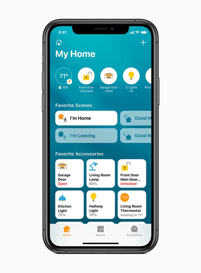 แอพ Home บนหน้าจอ iPhone 11 Pro
