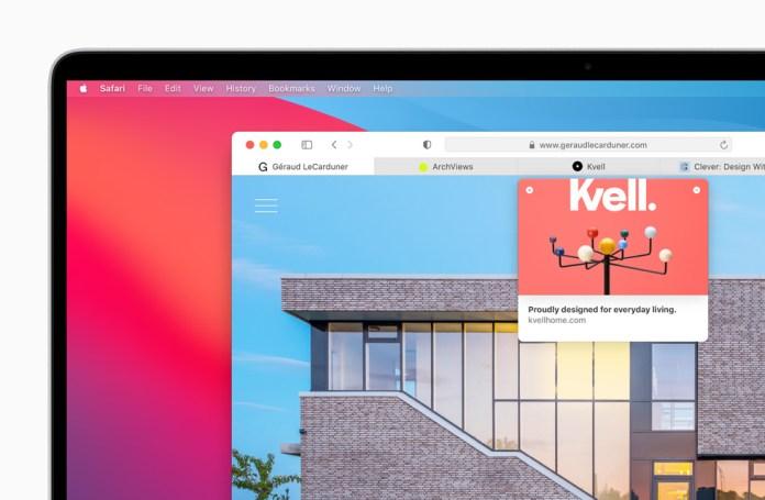 Il browser Safari visualizzato su MacBook Pro.
