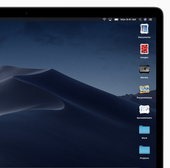 MacBook showing icon layout on Apple desktop