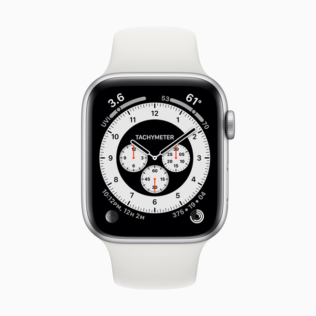 The Chronograph Pro watch face displayed on Apple Watch 5.