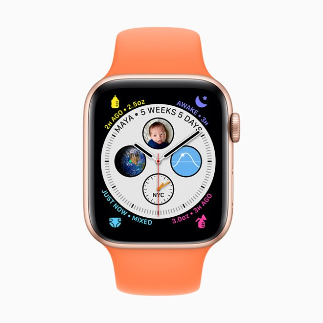 The Glow Baby app displayed on Apple Watch Series 5.