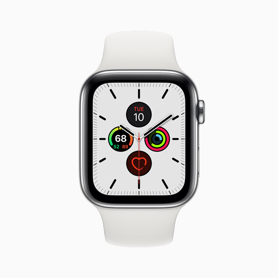 La nueva cara Meridian en Apple Watch Series 5.