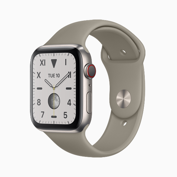 El titanio natural cepillado Apple Watch Series 5.