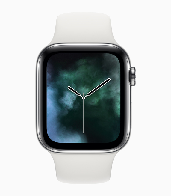 Apple Watch Series 4 displaying the new Vapor element watch face.