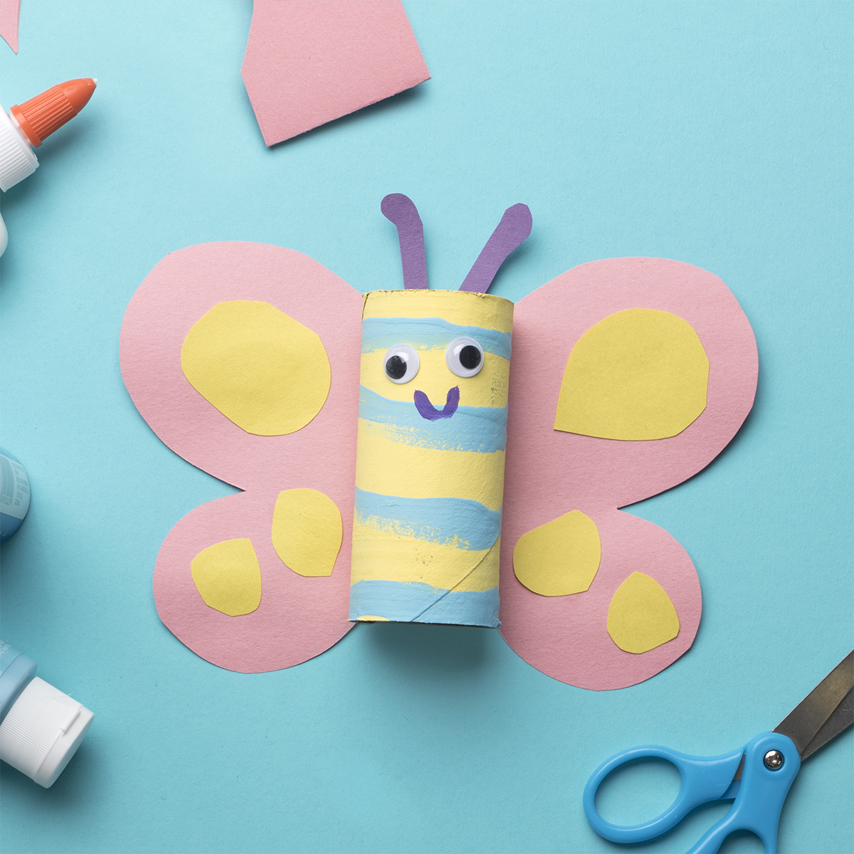 Toilet Paper Roll Critters Butterfly Apple Amp Eve