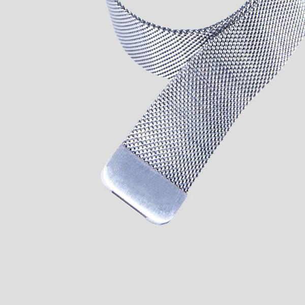 Silver Milanesisk loop-armband för Apple Watch