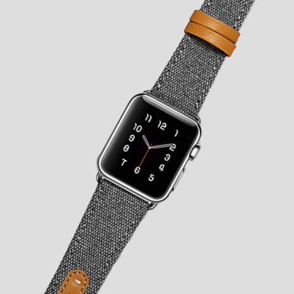 Grå textilarmband för Apple Watch