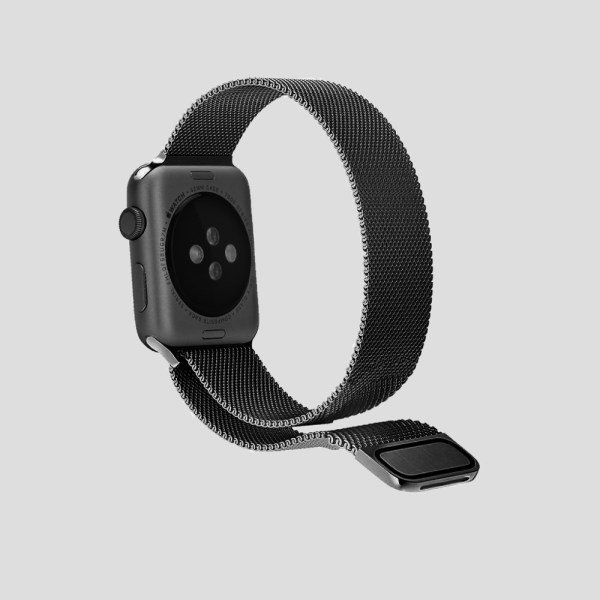 Mörkgrå Milanesisk loop-armband för Apple Watch