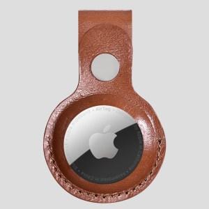 Mörkbrun AirTag läderhållare