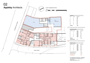 Level 1 proposed floor plan