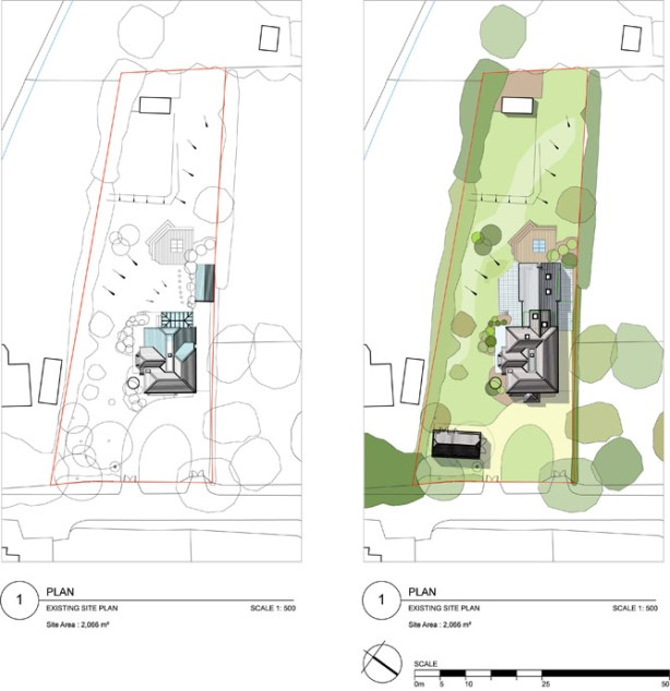 Existing & proposed site