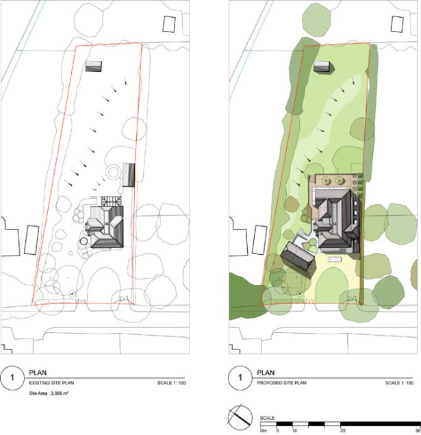 Existing & proposed site plan