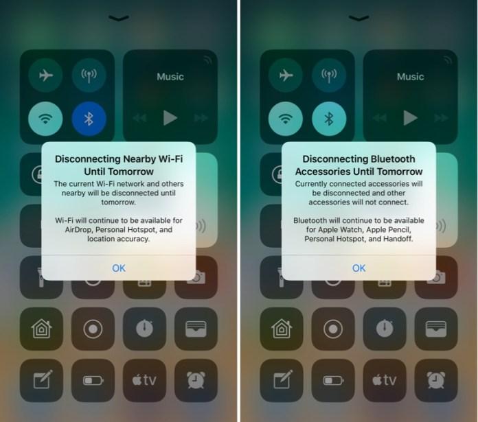 iOS 11.2 Beta 3 Denetim Merkezi