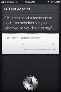 siri text message