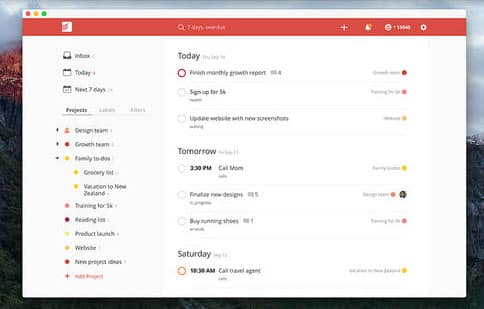 mac to do app todoist