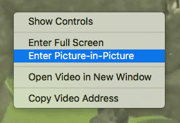 macos window management picture-in-picture menu