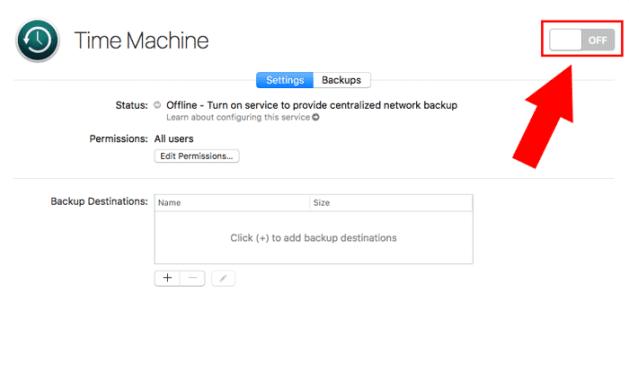 macos server time machine toggle