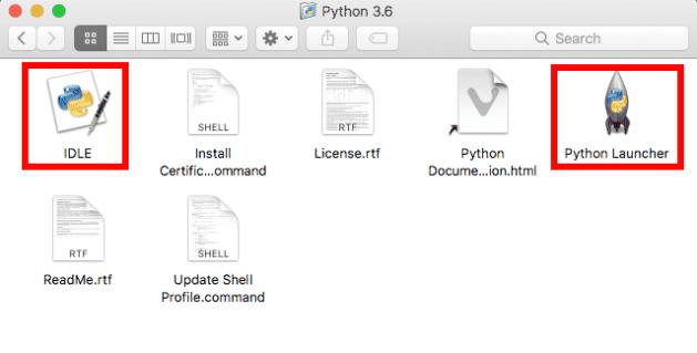python 3 mac application contents