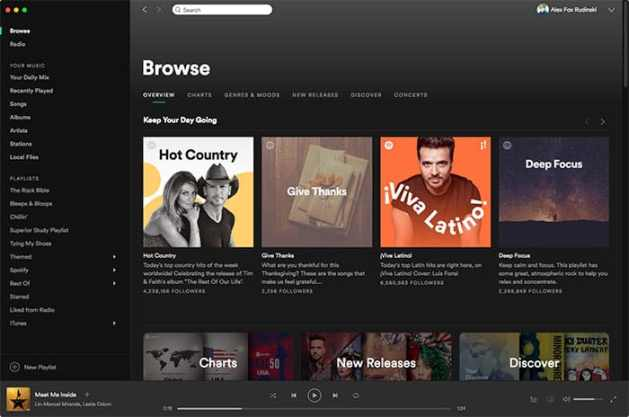 the best music streaming service spotify
