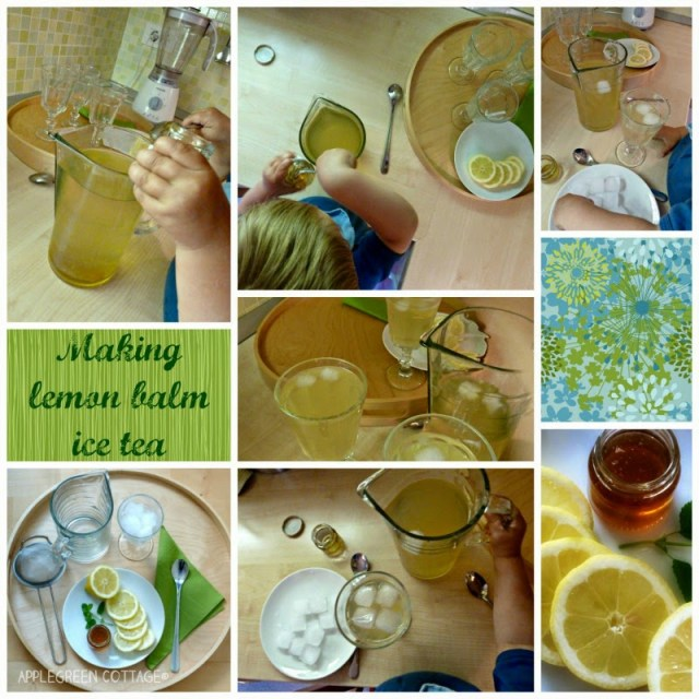 Making lemon balm ice tea