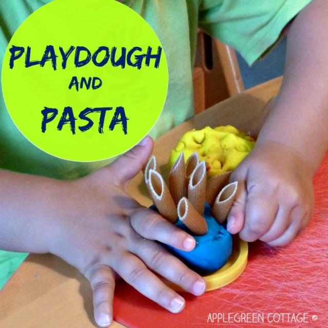 playdough and pasta