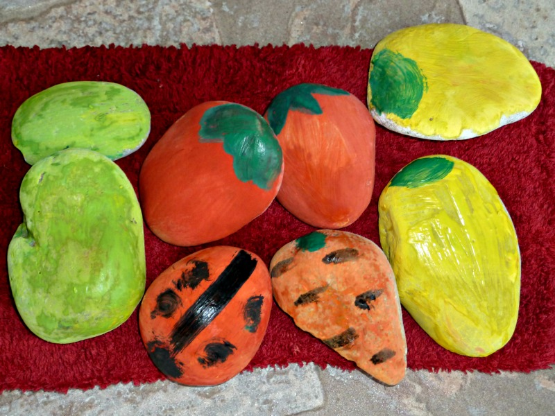 painted rocks for garden markers