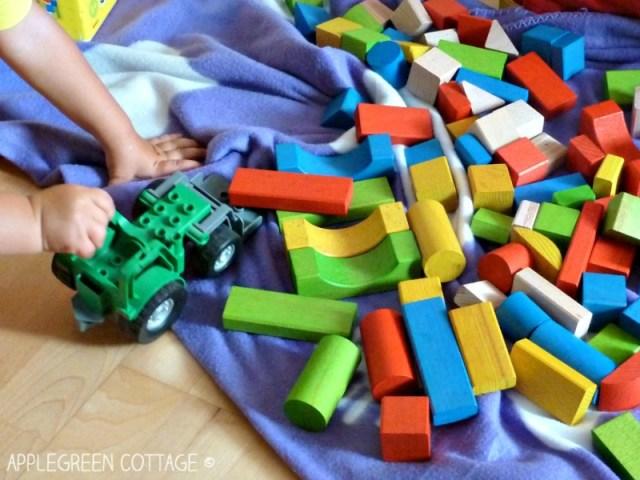 wooden bricks play