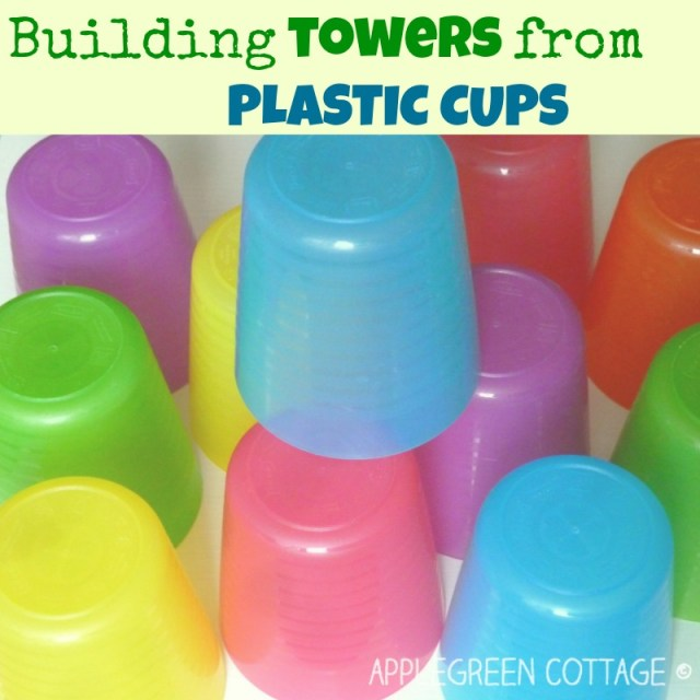 plastic cup tower