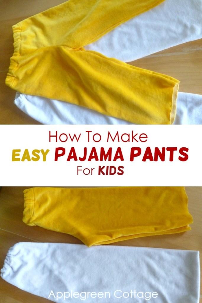 How to Make Pajama Pants For Kids – Easy Tutorial