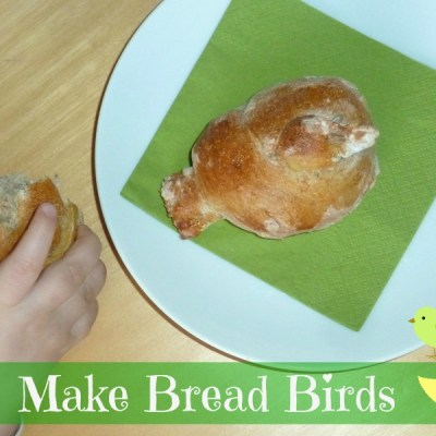 homemade bird shaped bread