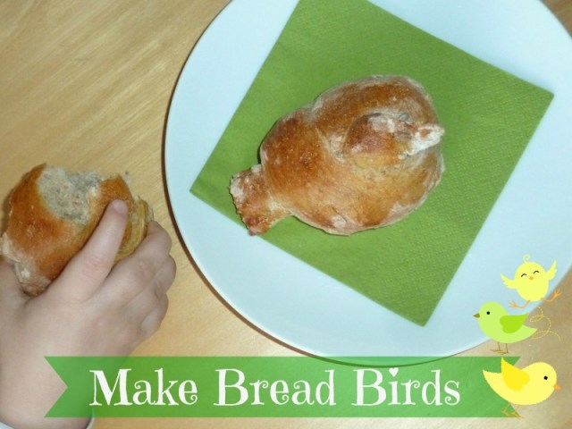 Bird shaped bread