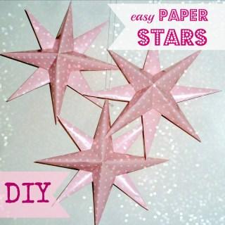 free paper stars tutorial