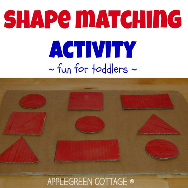 Shape matching activity for toddlers