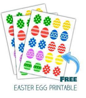 easter egg matching game printable