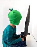 diy knight costume - helmet