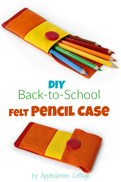 How to make a felt pencil case. This one is special! Make a simple patchwork and use it to make a colorful back-to-school felt pencil case. So much fun! Here's an easy sewing tutorial for beginner sewing enthusiasts who'd like to sew something easy and quick!
