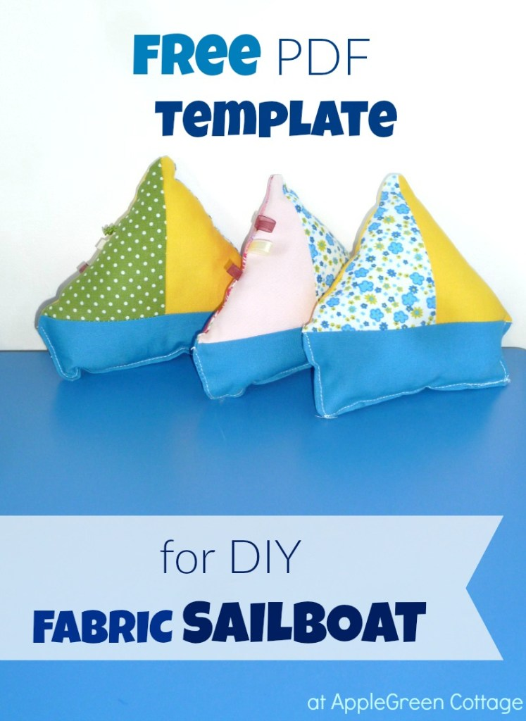 Free Sailboat Template – Fabric Sailboat Toy