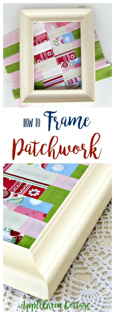 How To Frame A Patchwork – Mini Fabric Art on Display