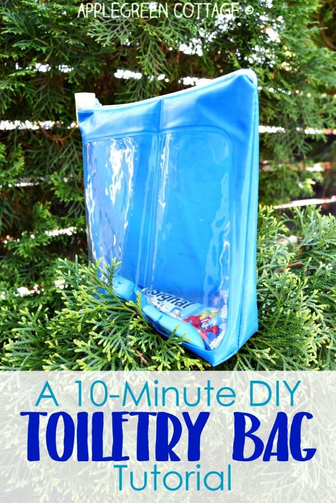 A 10-Minute Diy Toiletry Bag Tutorial – The Easiest Zipper Bag You'll Ever Make.